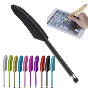 Universail  Design Feather Capacitive Stylus Screen Pen For Smartphone / Pad JU