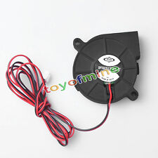 DC 12V 50mm Cooling Fan Blow Radial Hotend / Extruder For RepRap 3D Printer New