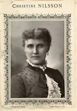 Goupil, Chanteuse de l'Opéra Christine Nilsson Vintage print.  Photoglypt