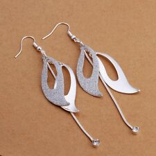 925 Sterling Silver Drop Dangle Chandelier Hook Earrings L10