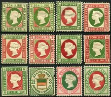 HELIGOLAND British Possession Postage Stamps Collection Germany 1867-1888 MLH