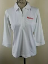 SPORT HALEY Golf Polo Shirt, Womens Size M, White, 3/4 Sleeves, Zipper, NEW