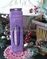 Advent Taper Candle Set of 4 Purple and Pink 10 inch