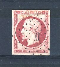 """FRANCE STAMP TIMBRE 18 """" NAPOLEON III 1F CARMIN 1853 """" OBLITERE TB RARE  R537"""