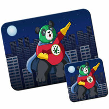 Kung Fu Bamboo Panda Hero Mouse Mat / Pad & Coaster