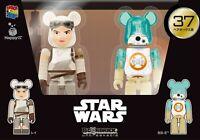 Star Wars Figure Rey & BB-8 Medicom Bearbrick Be@rbrick 100% 2017