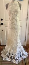 H & M 2018 Wedding Collection Ivory Lace Dress XS 2 Fit / Flare Sleeveless  NWT