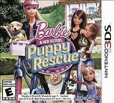 NINTENDO 3DS BARBIE & HER SISTERS PUPPY RESCUE BRAND NEW GIRLS VIDEO GAME
