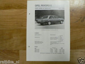 O01-OPEL REKORD E COACH, SEDAN EN STATIONCAR 1977-1978