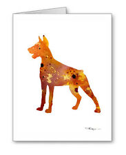 Doberman Pinscher Note Cards With Envelopes