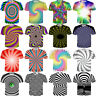 Women Men Hypnosis Tie-dye Colorful Funny 3D Print Casual T-Shirt Short Tee Tops