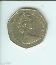 1981 GREAT BRITAIN LARGE OLD 50 NEW PENCE 50p UNITED KINGDOM COIN GB UK ENGLAND