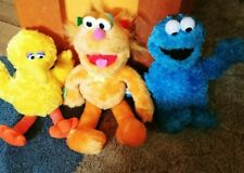 "Sesame Street lot of 3 Plush Big Bird 12"" cookie monsters 12"" and 1 more"