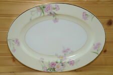 "Noritake Pink Carnation Mystery #1  Small Oval Serving Platter, 11 3/4"" x 8 7/8"""