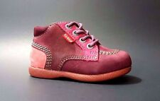 KICKERS Shoes Boots Baby Girls LEATHER Prewalk Size 4,5 USA/20 EURO.FREE RETURN
