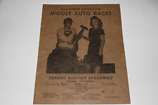 Midget Auto Races Program, Fresno Airport Speedway, Oct 6 1946, Original