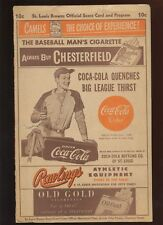 Circa 1948 MLB Program Cleveland Indians at St. Louis Browns