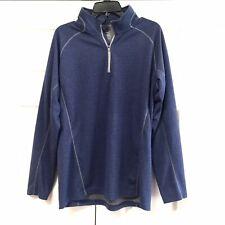 Slazenger Golf Men's Half Zip Top Pullover Sweatshirt Size L Blue