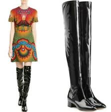 Lady Winter Block Heel Over Knee High Knight Riding Military Boots Big Size34-43