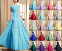 New Lace Chiffon Formal Evening Bridesmaid Dresses Party Ball Gown Prom Dresses