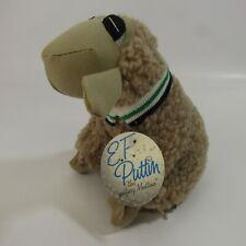 "Vintage E.F. Puttin Lamb Plush Stuffed Animal Toy 1988 Golfing Sheep 8"" Mutton"