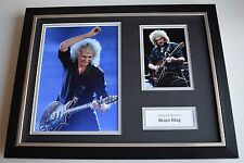 Brian May SIGNED FRAMED Photo Autograph 16x12 display Queen Guitar AFTAL & COA