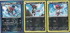 RARE BISHARP & 2 PAWNIARD-3 POKEMON EVOLUTION CARDS Plasma Freeze -REV HOLO MINT