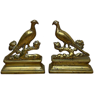 Pair Victorian Style Fine Small Antique Pheasant Bird Bookends