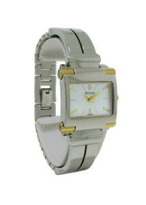 Bulova 98L002 Women's Rectangular Analog Mother of Pearl Bangle Style Watch