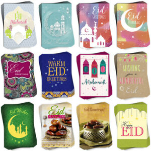 2021 Eid Mubarak Greeting Cards by Davora in Multi Pack of 6 For Friends/ Family