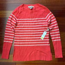 NWT C&C California 100% CASHMERE 2 ply Cozy Sweater Striped *Size XS*