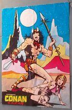 Conan & Kazar Poster Manifesto originale allegato al n.1 del 1975 misure 33x46