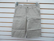 Boys Izod Khaki Uniform Flat Front Shorts Size 16