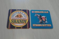 2 x Different Whitbread Shandy/English Ale Beermats