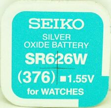 Seiko 376 (SR626W) Silver Oxide (0%Hg) Mercury Free Watch Battery Made in Japan