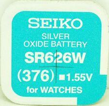 Seiko 376 (SR626W) Óxido de plata (0% libre Reloj Batería Hg) de Mercurio hecho en Japón