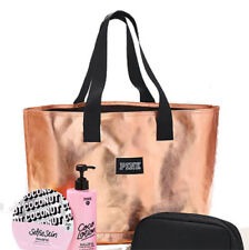 Victoria's Secret PINK Metallic Rose Gold Travel Tote Bag ~TOTE ONLY
