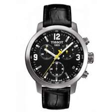 Tissot T055.417.16.057.00 PRC 200 Chronograph Men's Watch - Leather/Black
