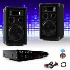 PA System Karaoke Verstärker Bluetooth USB SD Lautsprecher Cinch Big Light
