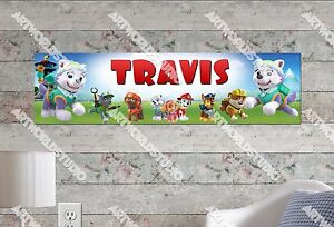 Personalized/Customized Paw Patrol #2 Name Poster Wall Art Decoration Banner