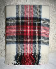 WILLIAMS-SONOMA HOME TARTAN WOOL THROW WITH FRINGE
