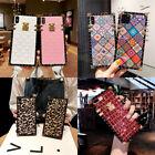 For Samsung Galaxy Note20 10 9 S21 S20 S10 S9 Luxury Retro Glitter Square Case