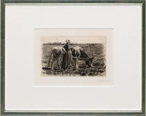 Max Liebermann (1847–1935), Hirtin mit Kuh, ca. 1894