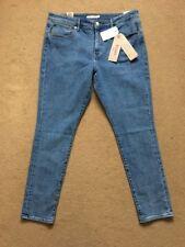 Levi's 721 High Rise Skinny Fit Stretch Blue Women's Lift Jeans, W33, L32, £95