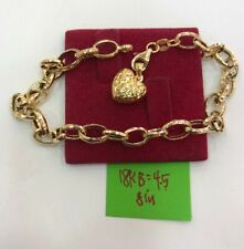 Gold Authentic 18k gold bracelet with heart, fpfg