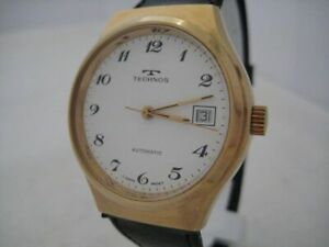 NOS NEW SWISS MADE AUTOMATIC TECHNOS WATCH 1960'S