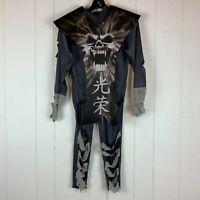 Halloween Costume Ninja Skull Warrior Boys Youth Large L Shirt Pants Belt Mask