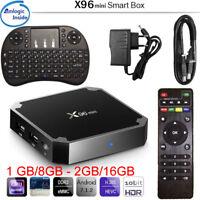 Smart TV BOX X96 mini Android 7.1 ROM 1GB/8GB 2GB/16GB +Mini Tastiera Senza Fili