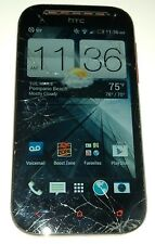 HTC One SV 8GB Boost Mobile Red Smartphone Cracked Glass
