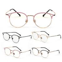 Retro Metal Frame Computer Goggles Radiation Protection Anti-blue Light Glasses